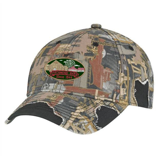 Richmond Fair Adjustable Camo Ball Cap Twill Back