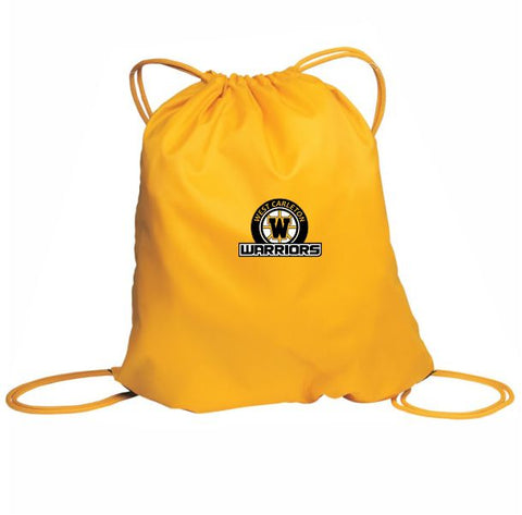 Warriors Crested Cinch Bag