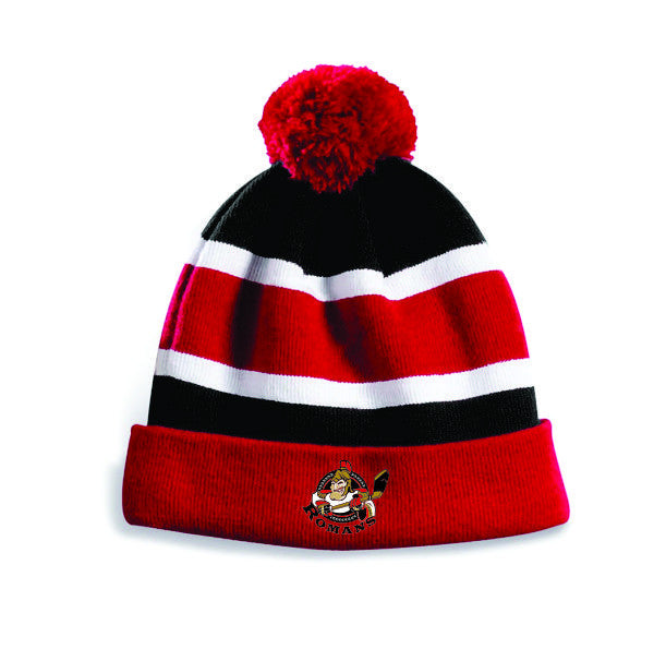 ROMANS Embroidered Pom Pom Toque