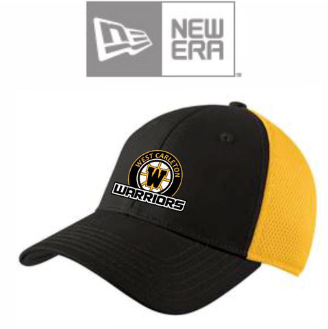 WARRIORS New Era Fitted Ball Cap Black Gold
