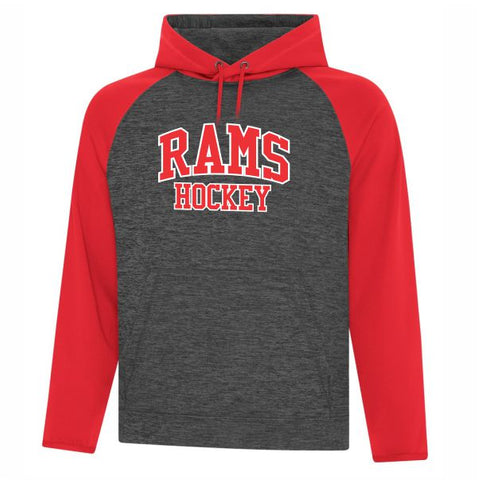 Rams 2 Toned Heather Hood