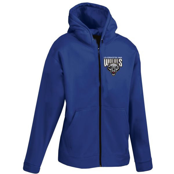 WOLVES Performance fleece fullzip hoodie