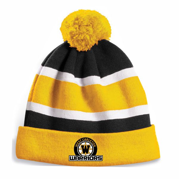 WARRIORS Lined Winter Toque Crested
