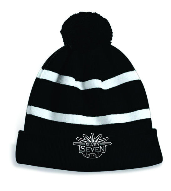 S7 Embroidered Pom Pom Toque