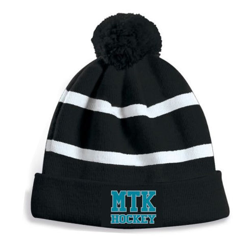MTK Embroidered Pom Pom Toque
