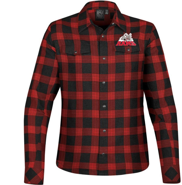 RAMS Ladies Flannel Snap Front Shirt