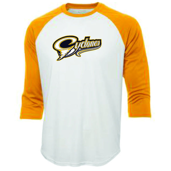 CYCLONES Sublimated 3/4 Length Ball Shirt