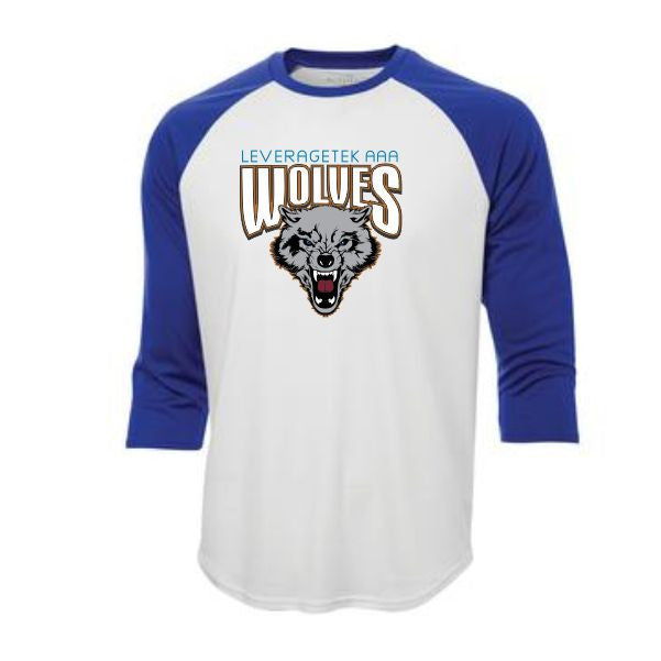 Wolves Retro baseball tee