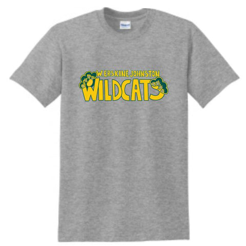 W. Erskine Johnston Wildcats Text T-Shirt