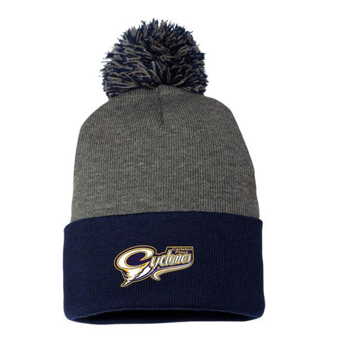 Cyclones Heather Pom Pom Tuque