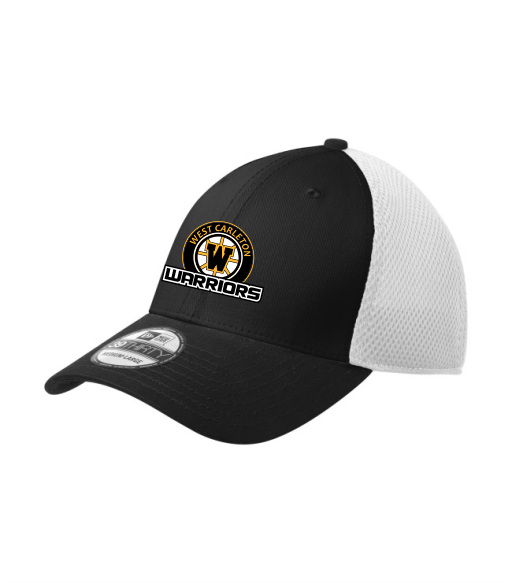 WARRIORS New Era Fitted Ball Cap Black White
