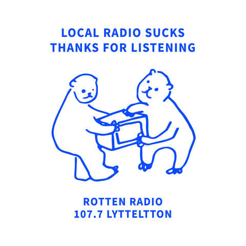 Rotten Radio Tea Towel