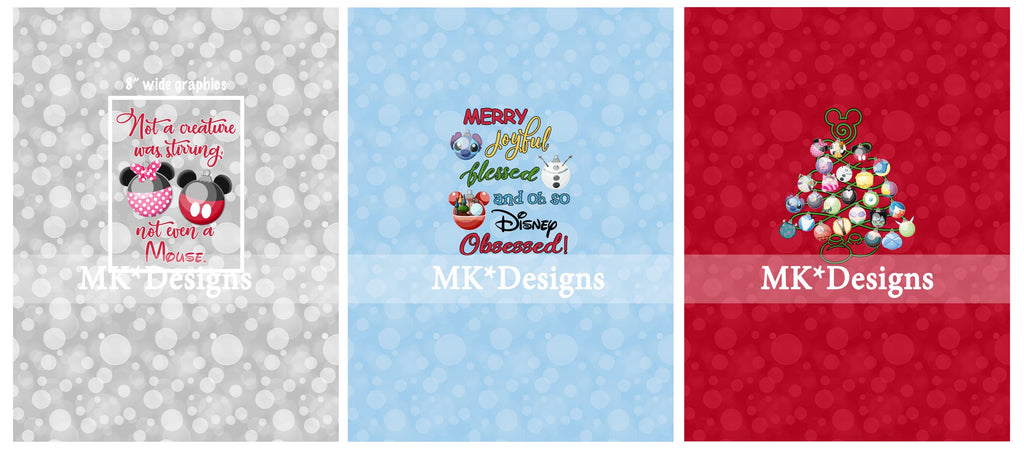 *Holiday2018* Magical Baubles BIG kid panel set