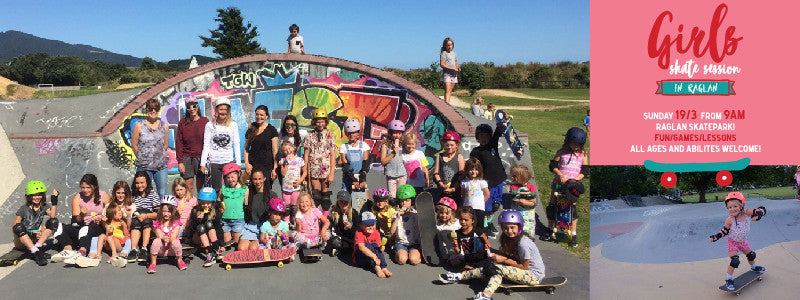 Helping Kiwi girls to skate and create