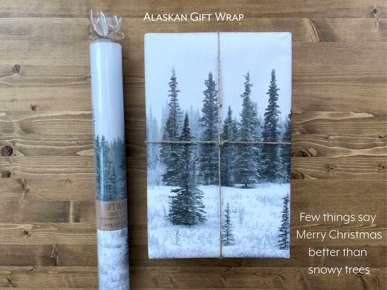 Snowy Trees Gift Wrap
