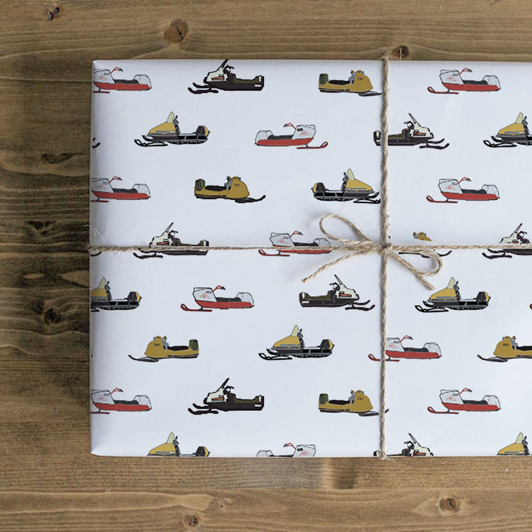 Vintage Snow Machine Gift Wrap