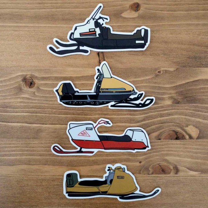 Vintage Snow Machine Stickers