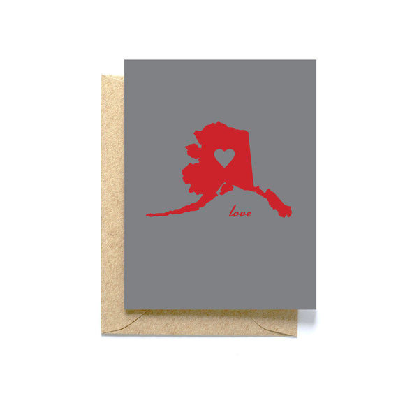 Alaska love greeting card