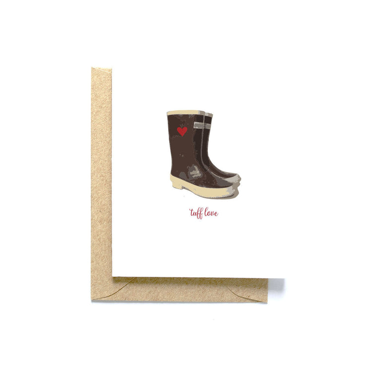 Tuff Love, blank greeting card