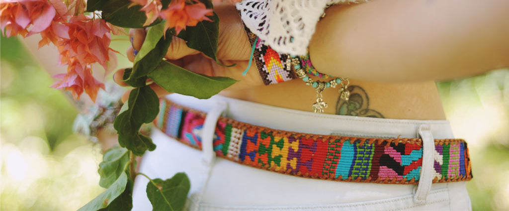 Hiptipico Belts, Hiptipico Boho Belts, Bohemian Belt, Urban OUtfitters Belt, Free People Belt, textile embroidered belt, Hiptipico Leather Belts, Colorful Woven Blanket Dress Belts, Bohemian Tapestry Festival Belts, Boho Artisanal Leather Belts, Ethical Fashion Brand