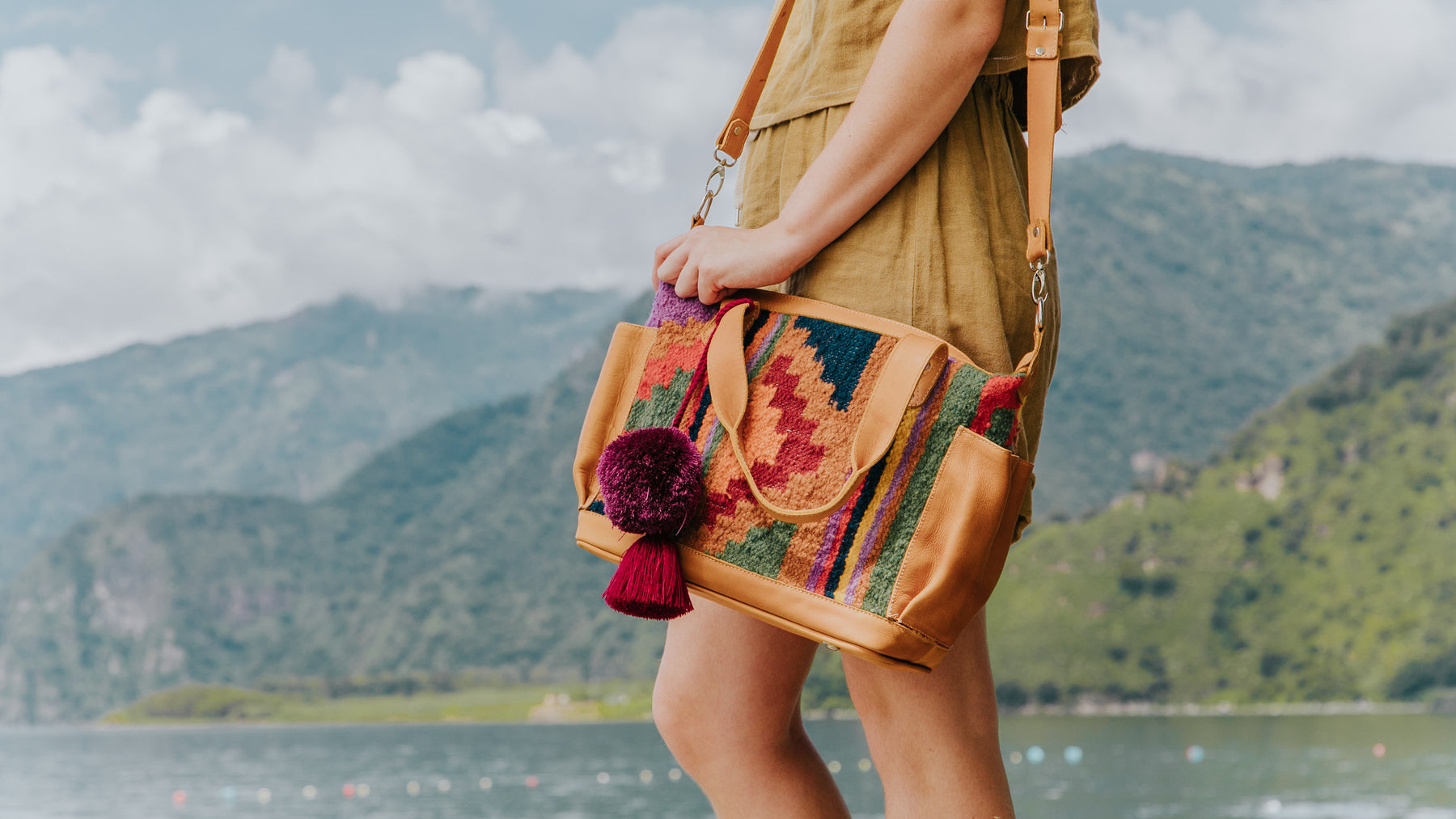Hiptipico Sustainable Luxury Leather Convertible Bags Handmade in Guatemala