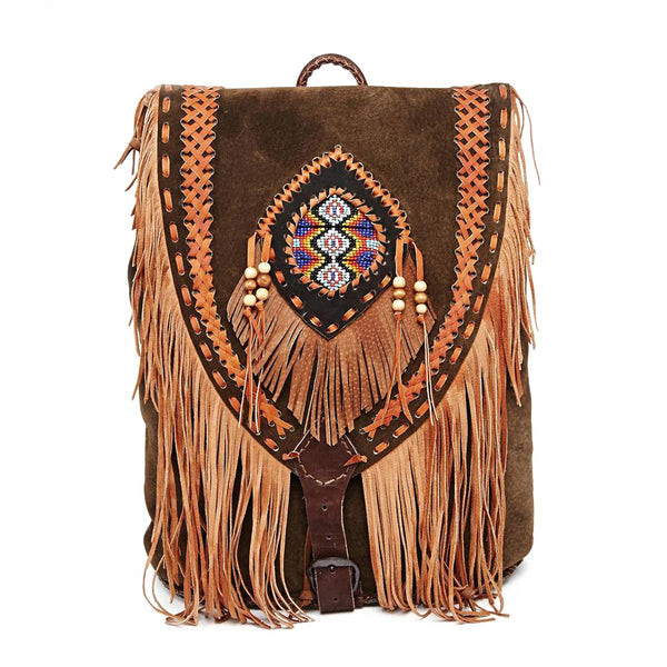 hiptipico fringe backpack, bohemian backpack, festival backpack, free people backpack