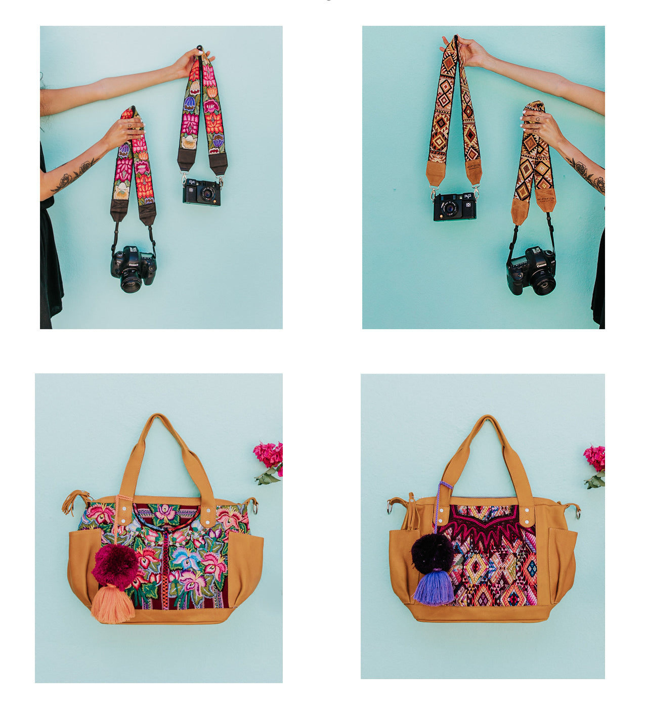 Hiptipico Build Your Own Custom Huipil Bag and Camera Strap