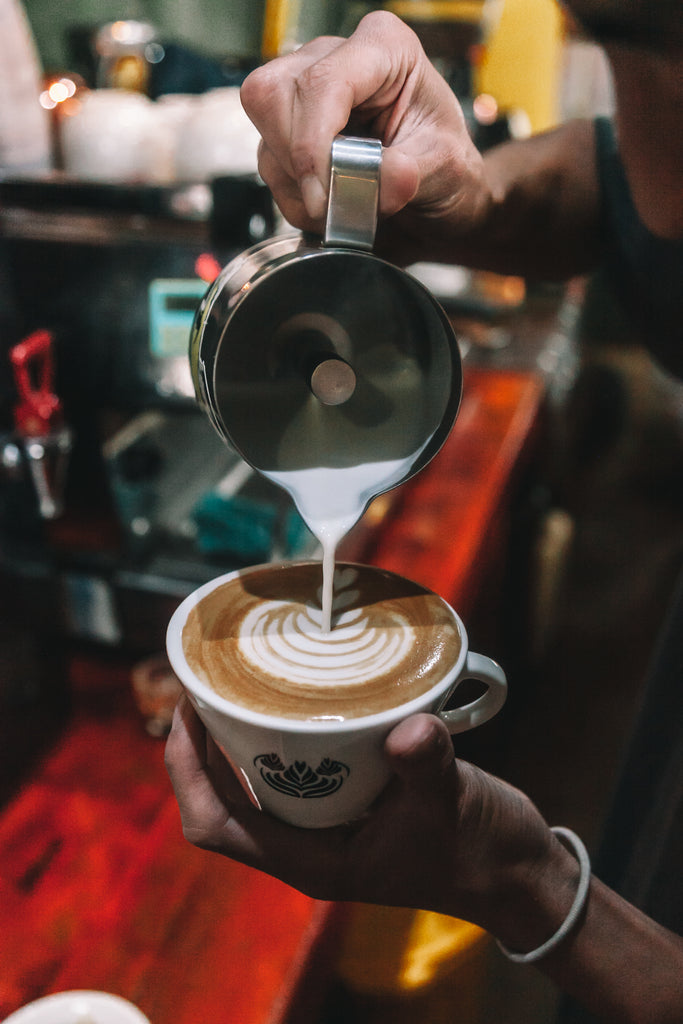 cafe loco, latte art, ordering ethically sourced coffee, sustainably sourced, guatemalan coffee
