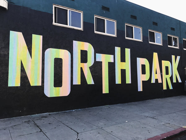The North Park, California neighborhood mural wall