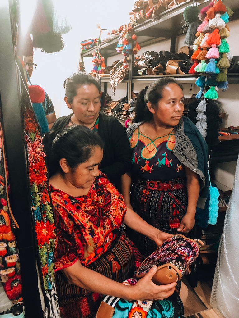 guatemalan goods, artisan leather, handmade products, socially conscious shopping, support guatemalan artisans, repurposed textiles