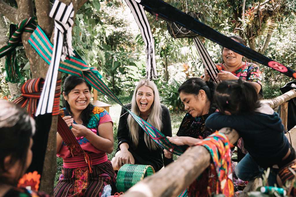 immersion in guatemalan tradition, womens weaving groups, rural artisans, working in rural guatemala, back strap weaving, authentic cultural tours