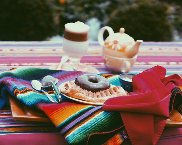 hiptipico lifestyle blog ethical fashion guatemala, mexican woven blanket, tea party, instameet