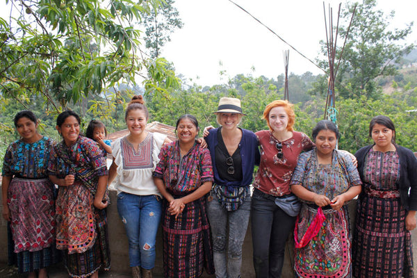 hiptipico blog, artisan visit, visit guatemala, travel guatemala, travel blog, mayan dress, mayan girl, traje tipico, weaving cooperative