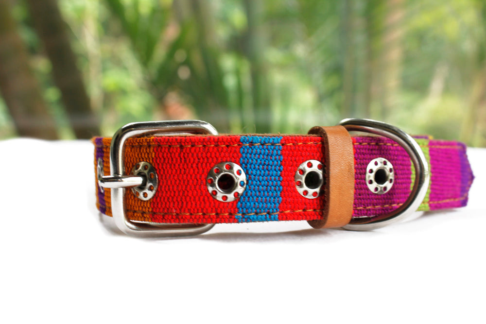 ethical handmade dog collar, hiptipico, collars for a cause