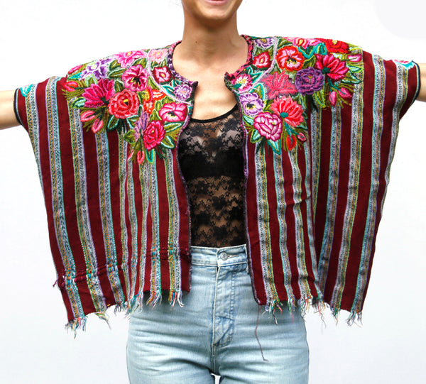hiptipico artisan ethical fashion vintage guatemala, sustainable fashion brand, huipil, festival poncho, guatemalan blouse