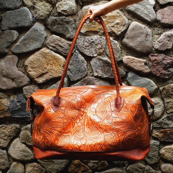 Hiptipico Weekender, Hiptipico Maleta, Tooled Leather, Free People Maleta Weekender, Hiptipico Fair Trade