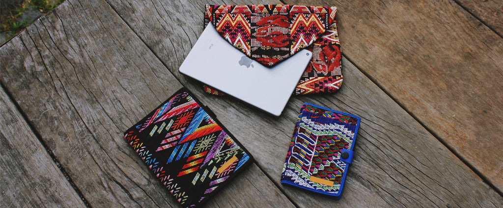 hiptipico tech notebooks, embroidered bohemian notebooks, embroidered bohemian ipad case, embroidered bohemian laptop bag, Hiptipico tech accessories and bohemian office accessories include colorful ipad case, textile laptop cases, woven pencil cases and embroidered notebooks