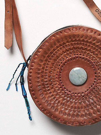 asos cross body, free people leather bag, hiptipico, jade, tooled leather, cross body, handmade leather, eclipse cross body, hiptipico eclipse round purse, hiptipico jade purse, tooled leather bag
