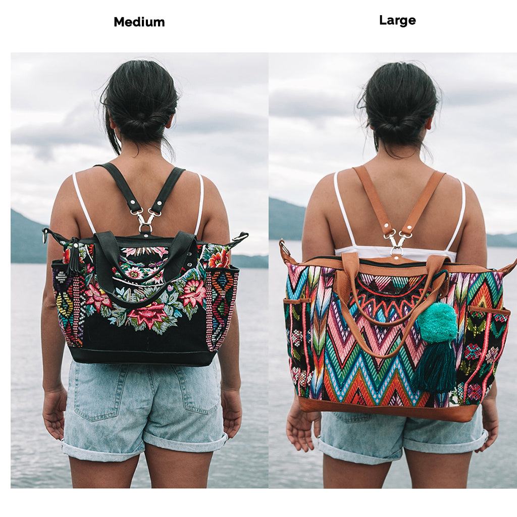 Custom Huipil Convertible Bag - Maya Patzun
