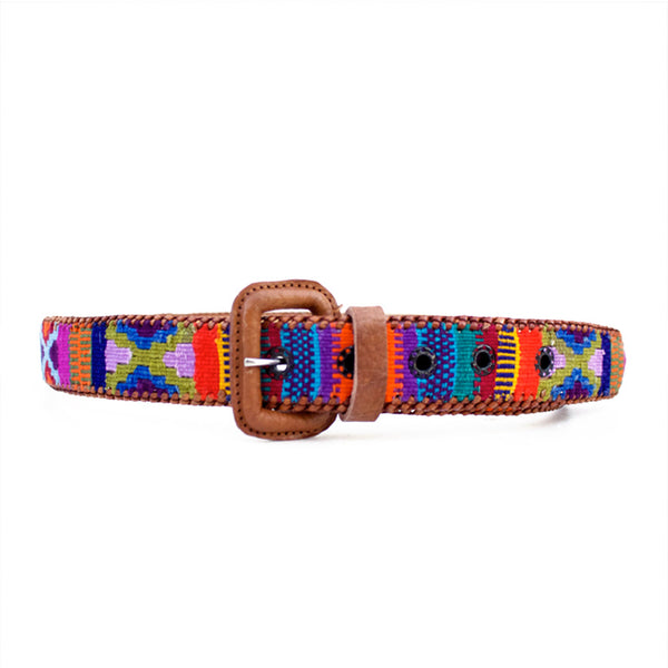 handmade belt, tribal belt, hiptipico belt, urban outfitters belt, gaucho belt, multicolor belt, ecofriendly belt, handmade leather belt, guatemalan belt