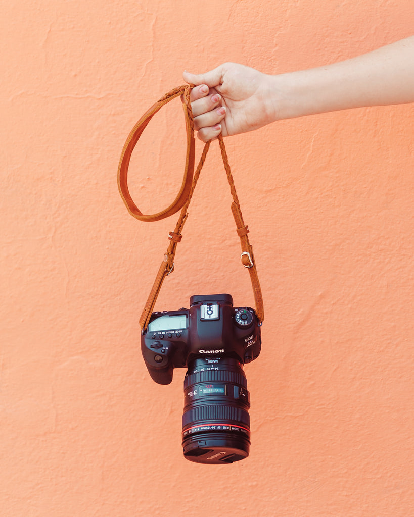 Leather Braided Camera Strap