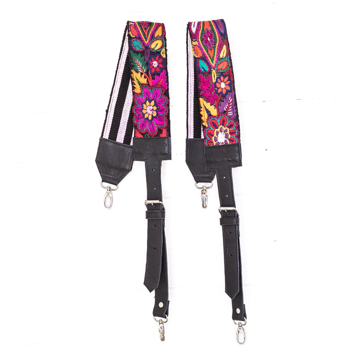 Vintage Embroidered Backpack Strap - 02201