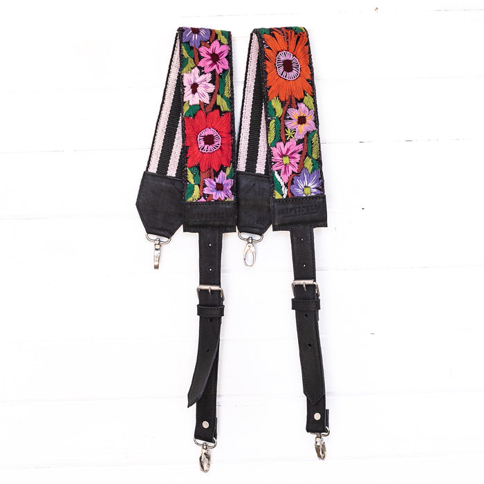 Vintage Embroidered Backpack Strap - 02203