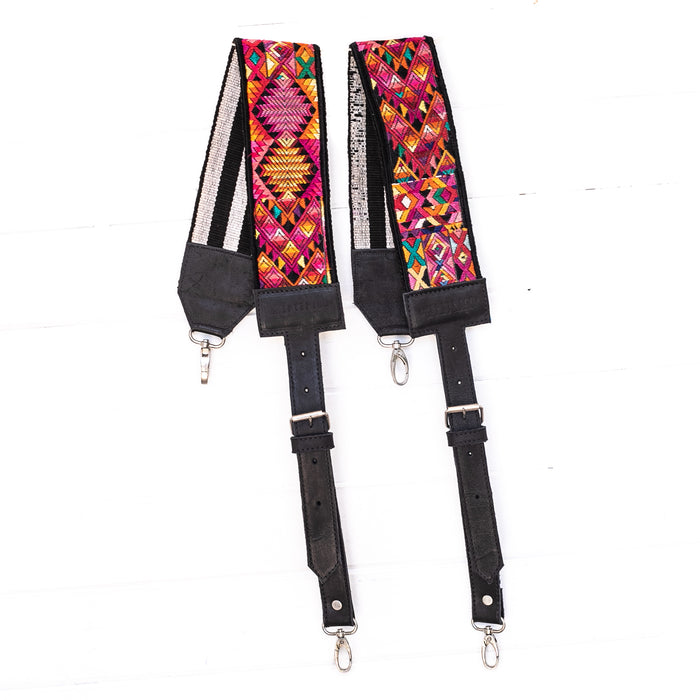 Vintage Embroidered Backpack Strap - 02204