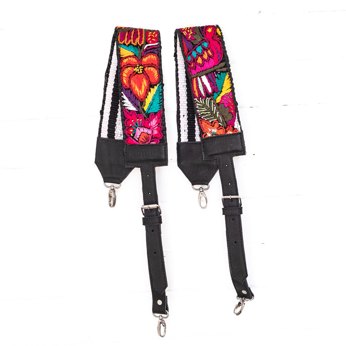 Vintage Embroidered Backpack Strap - 02220