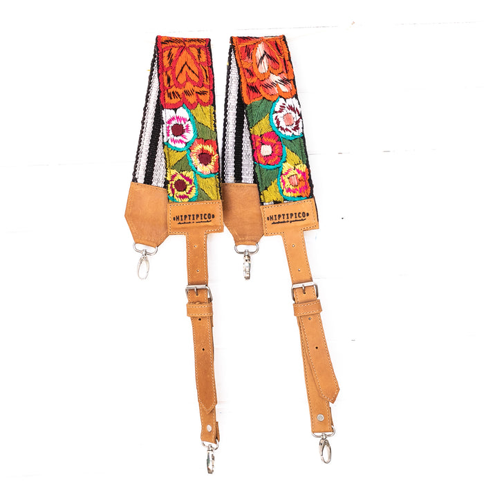 Vintage Embroidered Backpack Strap - 02233