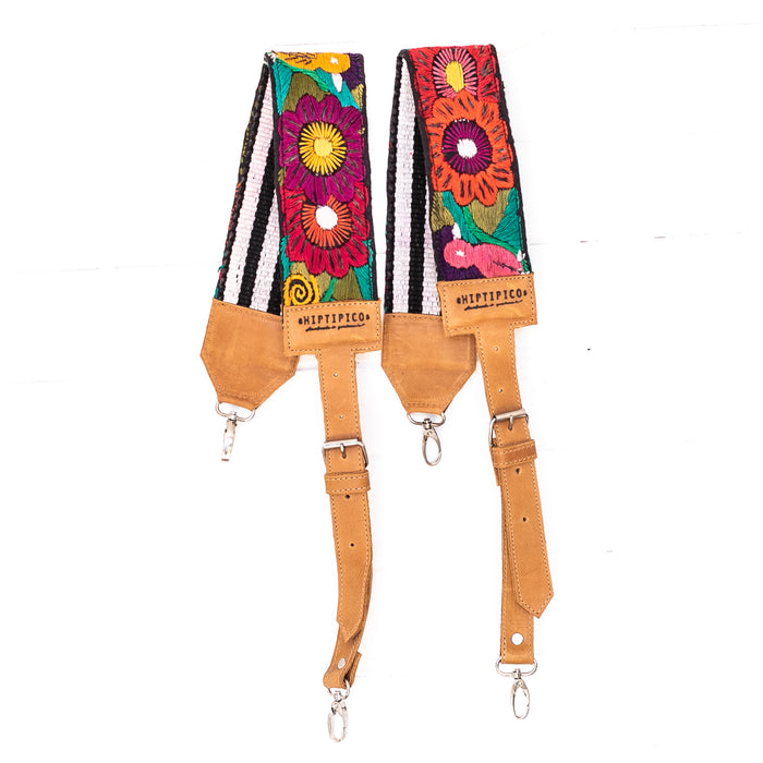 Vintage Embroidered Backpack Strap - 02239