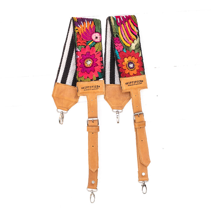 Vintage Embroidered Backpack Strap - 02241