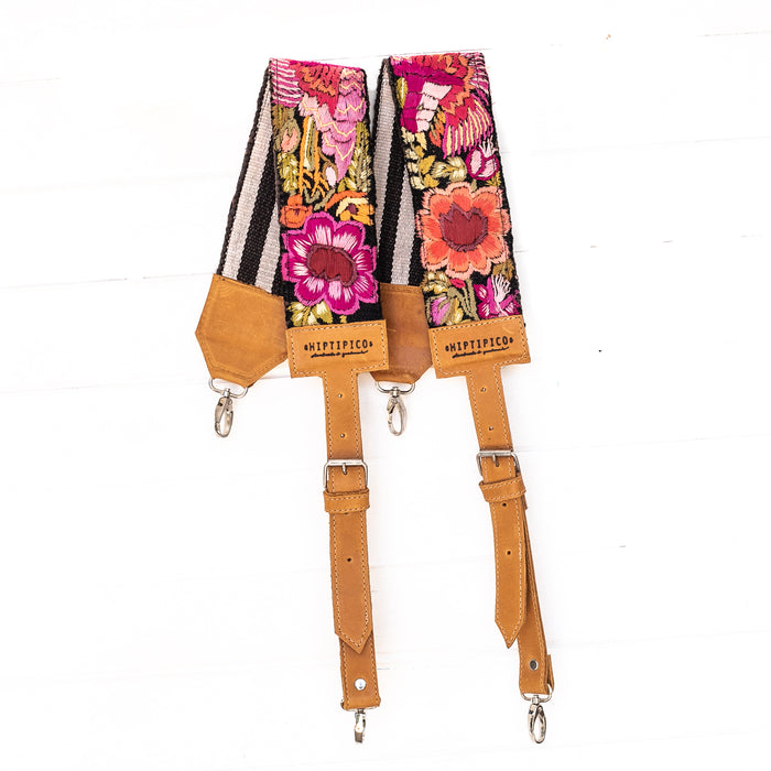 Vintage Embroidered Backpack Strap - 02251