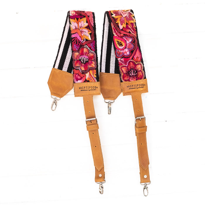 Vintage Embroidered Backpack Strap - 02262